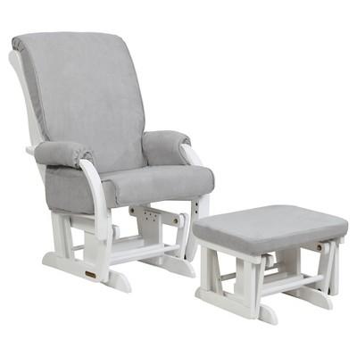 Shermag Sorrento Glider Chair And Ottoman Combo   Gray