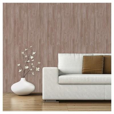 Devine Color Textured Driftwood Peel & Stick Wallpaper - Twig