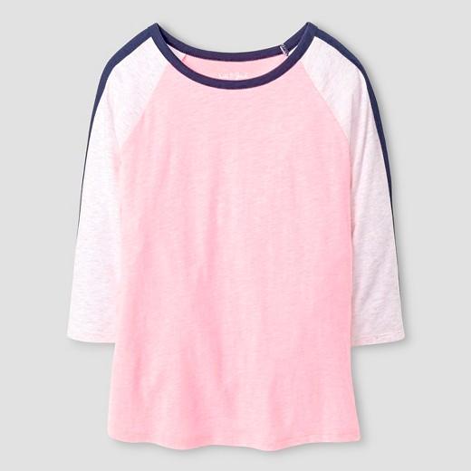 Girls' 3/4 Sleeve T-Shirt - Cat & Jack™ Pink : Target
