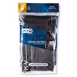 JKY™ by Jockey® Men's 2pk Cotton Stretch Long Leg Boxer Briefs