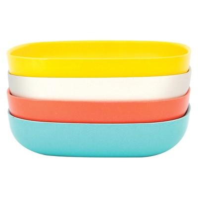 Peccioli Melamine Bowls Set Of Four Azure Dots Melamine