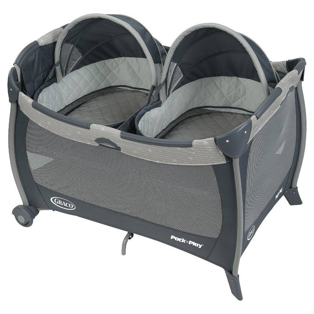 Graco Pack 'n Play Playard with Twin Bassinets, Stars