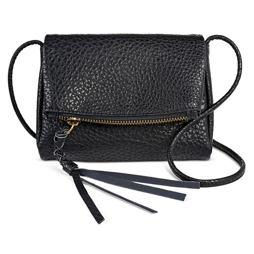 Women s Faux Leather Crossbody Strap Wallet Black - Mossimo Supply ... 5c677be2f4778