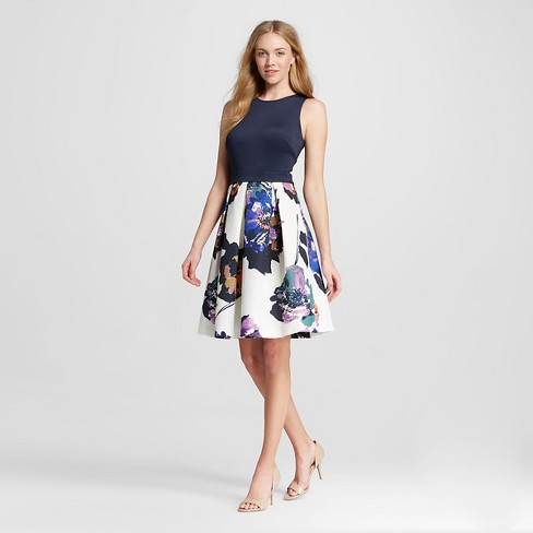 Women's Floral Fit and Flare Dress - Melonie T - image 1 of 2