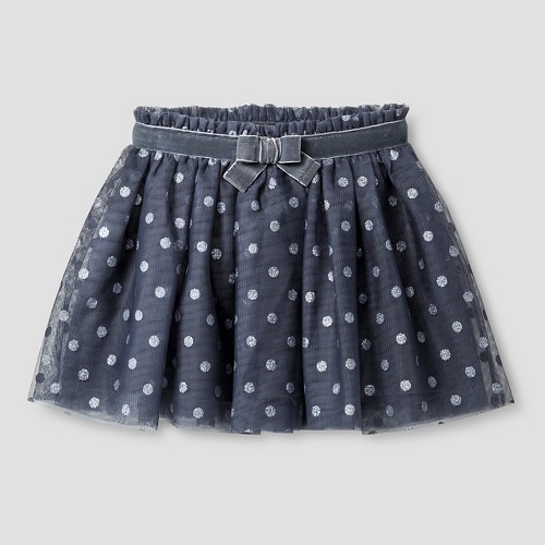 Baby Girls' Polka Dotted Tutu Skirt Cat & Jack - Gray 12M, Infant Girl's