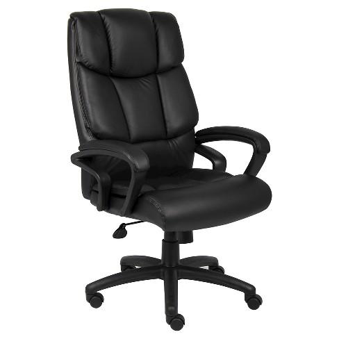 Ntr Executive Top Grain Leather Chair Black Boss Office