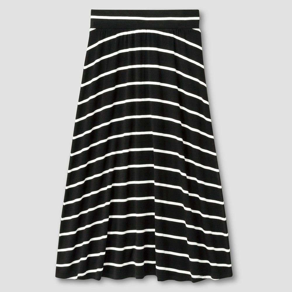 Girls Striped Maxi Skirt - Cat & Jack Black M