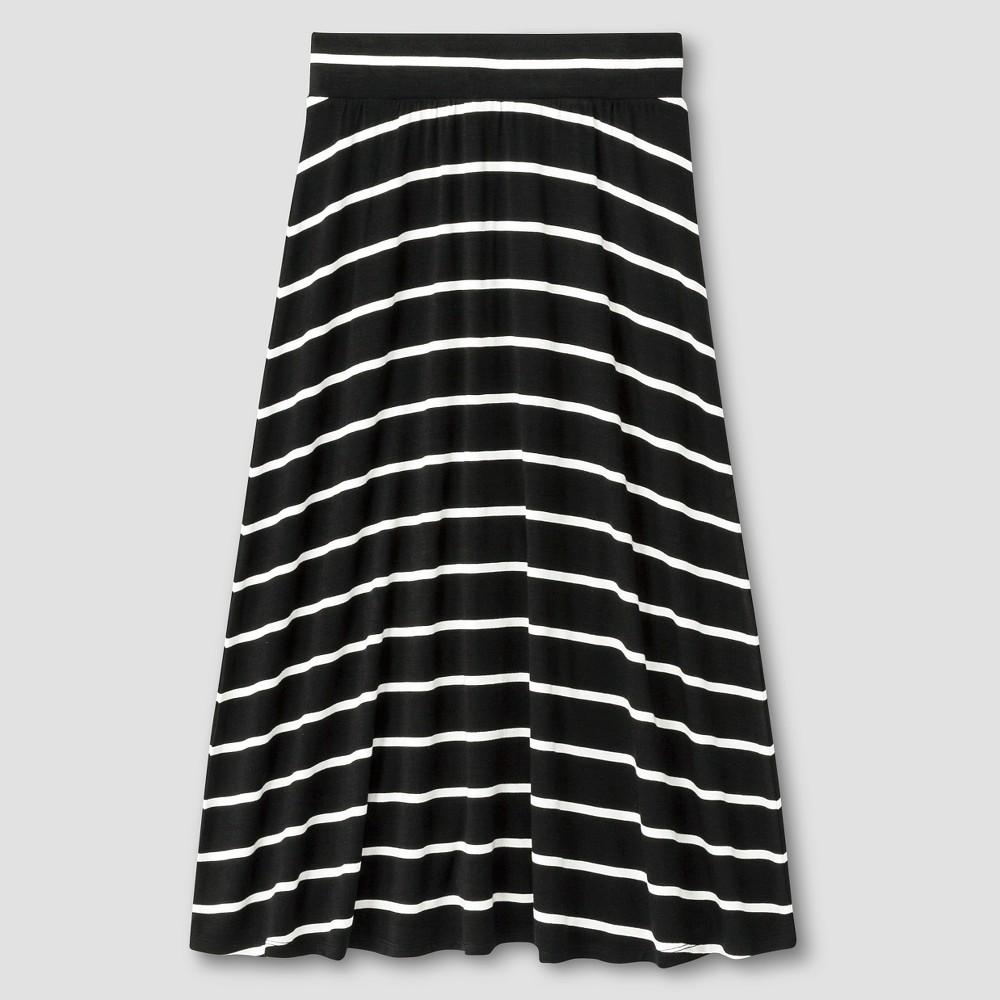 Girls Striped Maxi Skirt Cat & Jack Black L