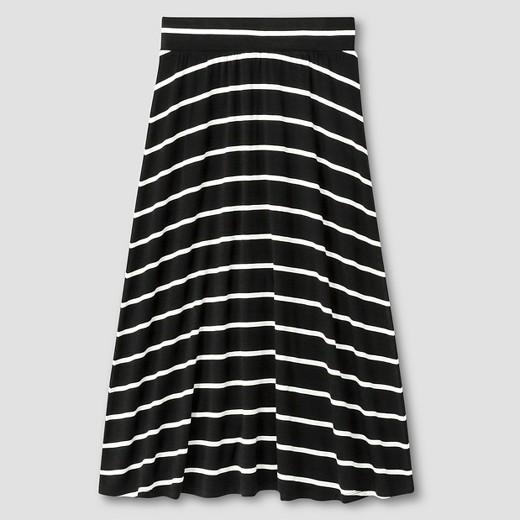 Girls' Striped Maxi Skirt ... - Girls' Striped Maxi Skirt - Cat & Jack™ Black : Target