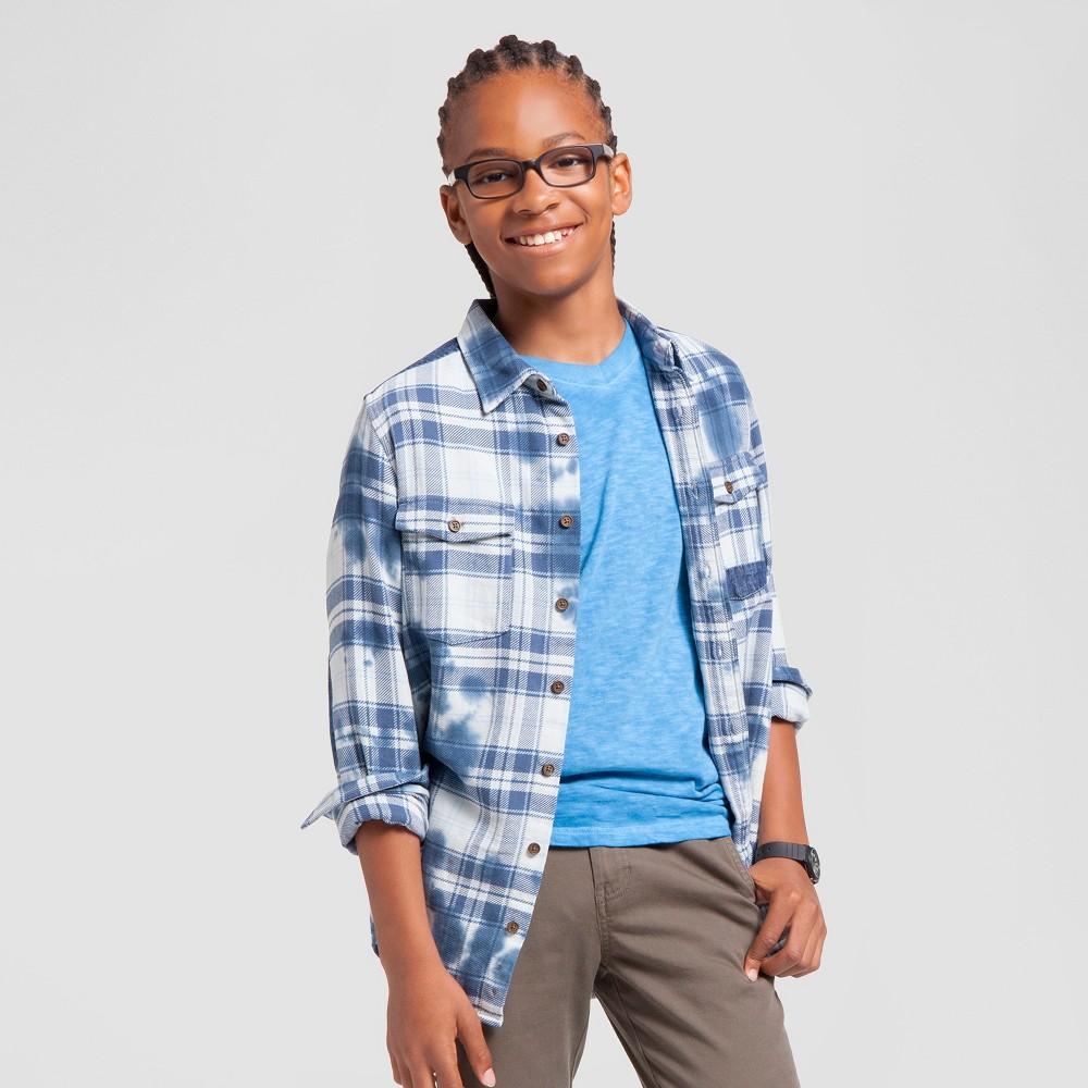 Boys Garment Dyed Pocket T-Shirt - Cat & Jack Blue XS