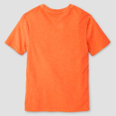 Boys' Garment Dyed Pocket T-Shirt Cat & Jack - Orange XL, Boy's