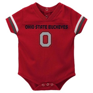 NCAA Ohio State Buckeyes Romper - 12 M, Newborn Unisex, Multicolored