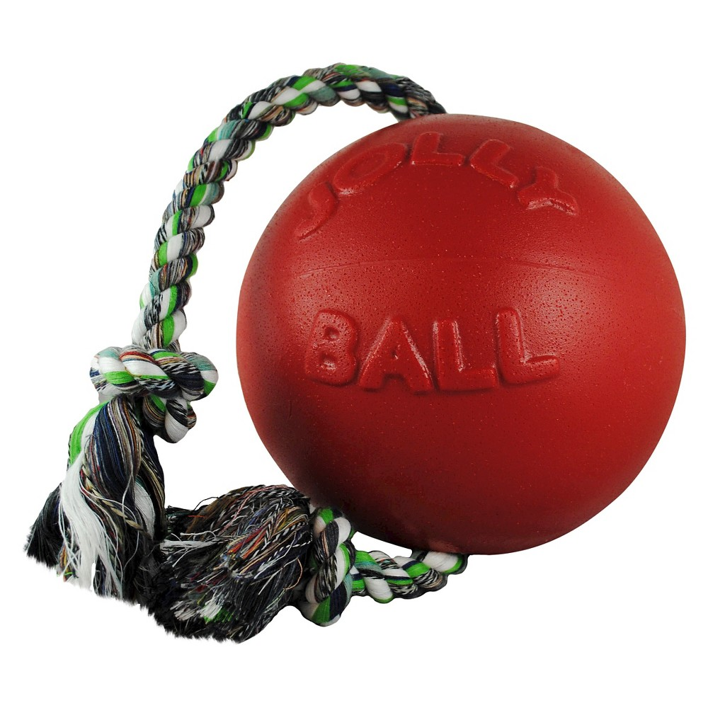 Jolly Pets Romp-n-Roll Pet toy -Red (6), Red