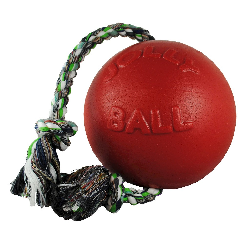 Jolly Pets Romp-n-Roll Pet toy -Red (8), Red