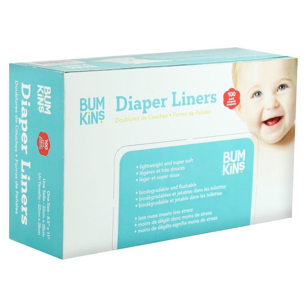 Bumkins Diaper Liners - 100 ct, White