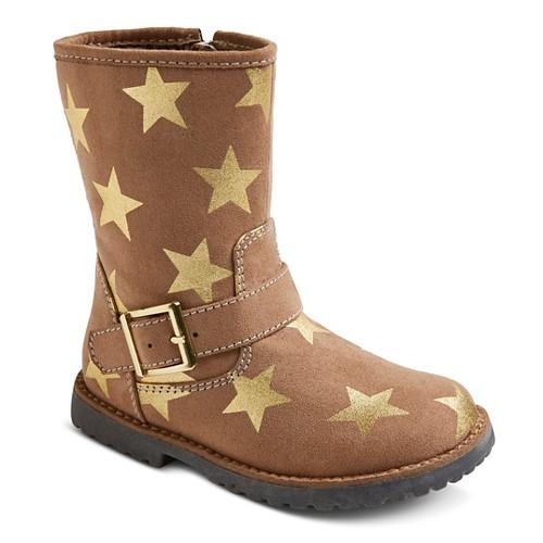 Toddler Girls' Jordyn Star Fashion Boots Cat & Jack - Tan 9, Toddler Girl's, Beige