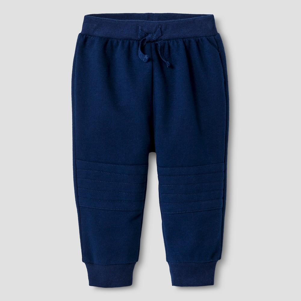 Baby Girls Solid Jogger Pants - Cat & Jack Blue 0-3M, Size: 0-3 M