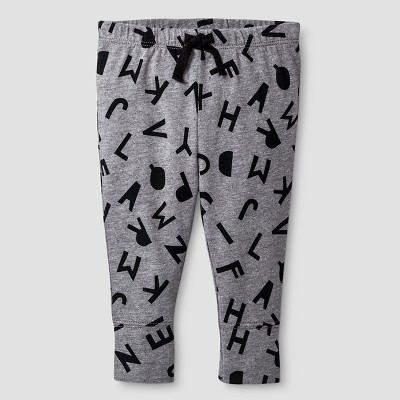 Baby ABC Print Jogger Pants Cat & Jack™ - Gray 0-3M