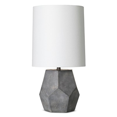 Concrete Accent Lamp - Grey/White (9x9x17.5 )