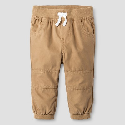 Baby Boys' Lined Jogger Pant Baby Cat & Jack™ - Sandstone NB