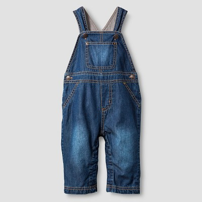 Baby Lined Denim Overall Cat & Jack™ - Dark Wash 3-6M