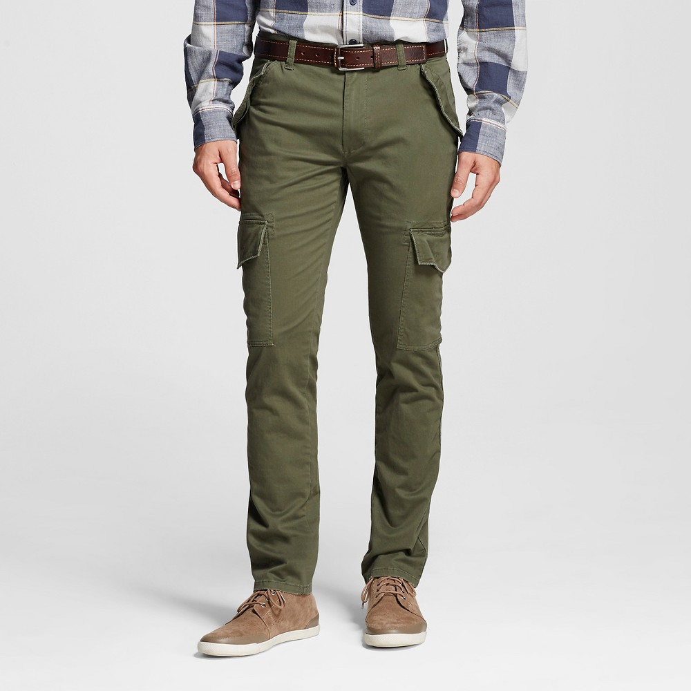 Mens Cargo Pants Olive 38x30 - Mossimo Supply Co., Green
