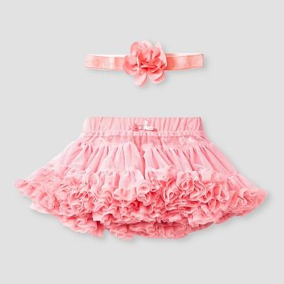 Baby Girls' Tutu Skirt and Headband Set Baby Cat & Jack™ - Pink 0-3M