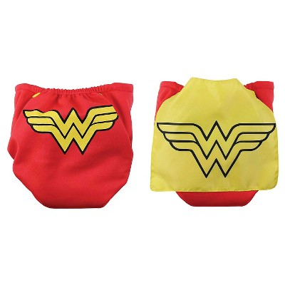 Bumkins DC Comics Snap-in-One Diaper with Cape, Wonder Woman