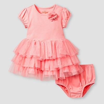 Baby Girls' Short-Sleeve Tutu Dress Baby Cat & Jack™ - Pink NB