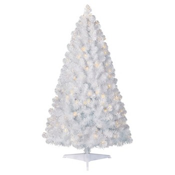 Clear Lights 4.5ft Pre-Lit Artificial Christmas Tree