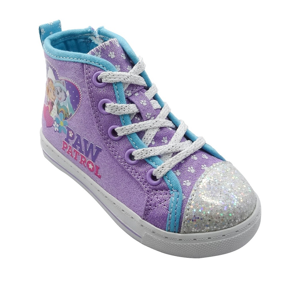 Toddler Girls Paw Patrol High Top Sneakers - Purple 6