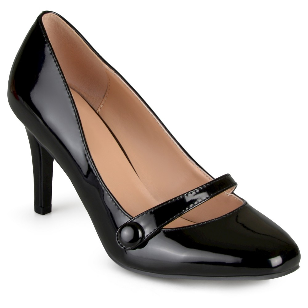 Womens Journee Collection Devi Classic Mary Jane Pumps - Black 8