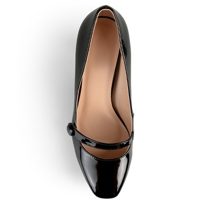 Women's Journee Collection Devi Classic Mary Jane Pumps - Black 8
