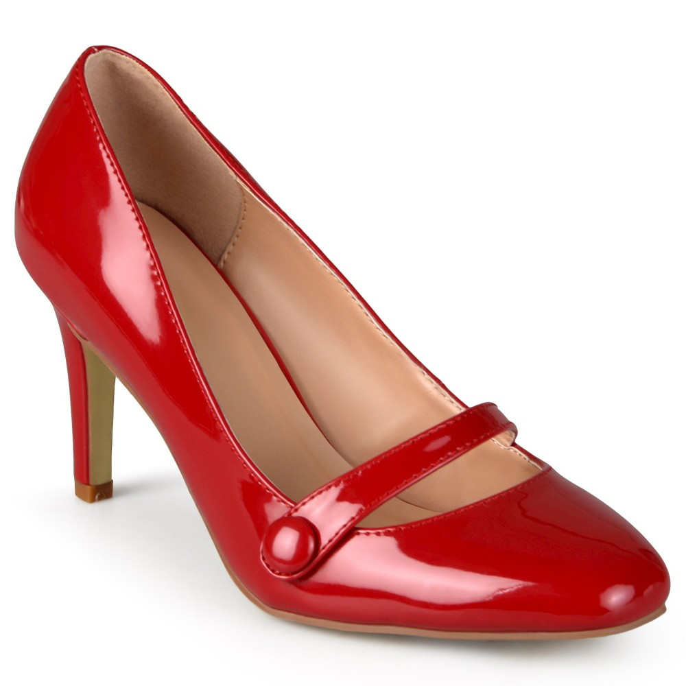 Womens Journee Collection Devi Classic Mary Jane Pumps - Red 6.5