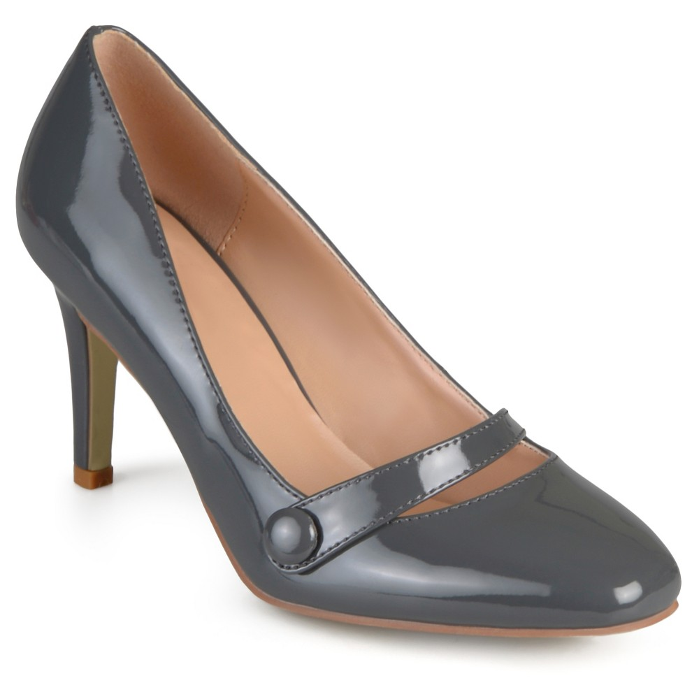 Women's Journee Collection Devi Classic Mary Jane Pumps - Gray 8.5