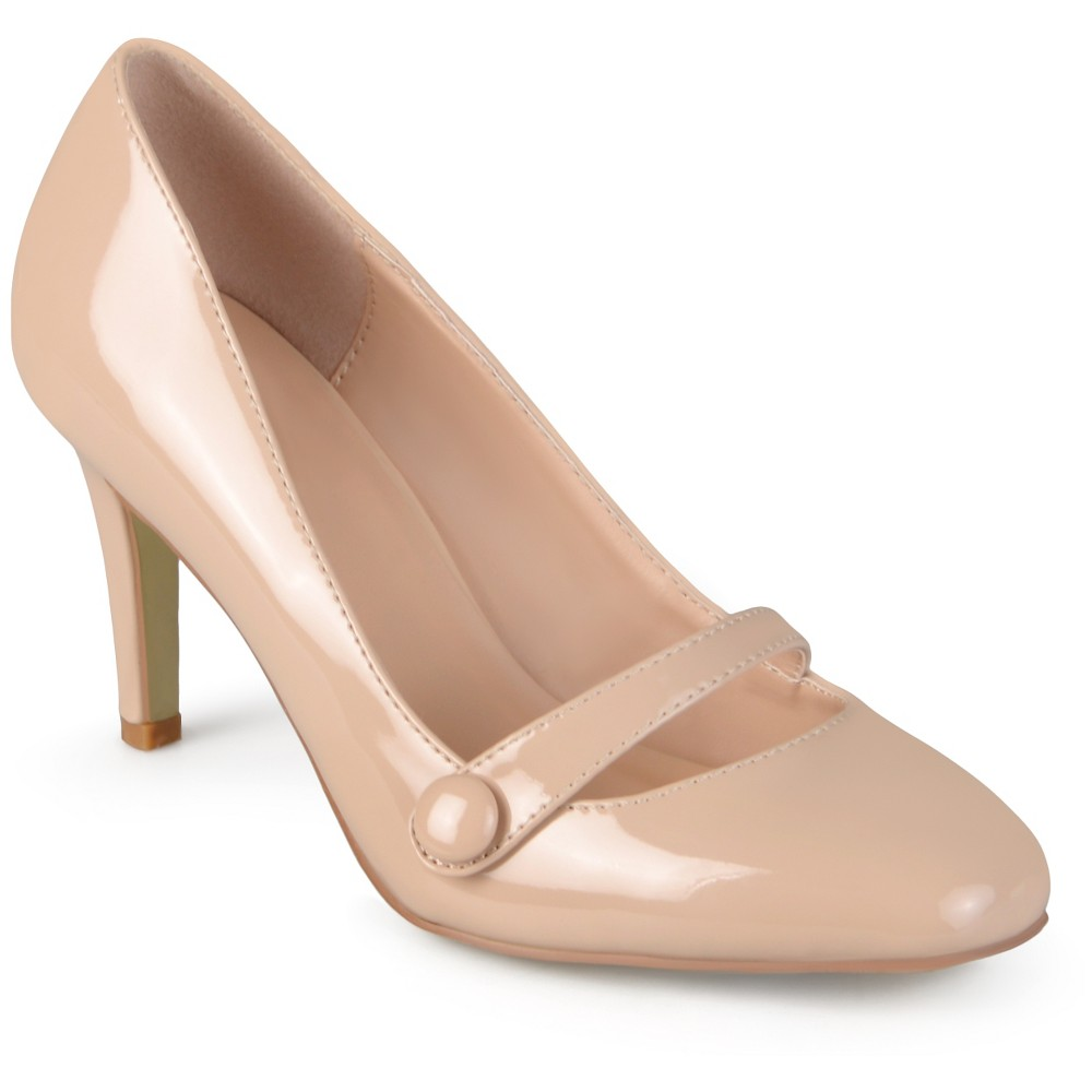 Womens Journee Collection Devi Classic Mary Jane Pumps - Nude 7.5
