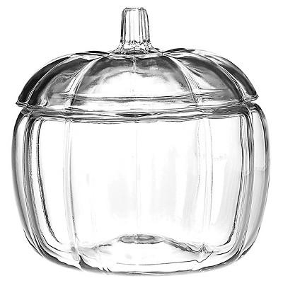 Halloween Pumpkin Glass Jar - Clear