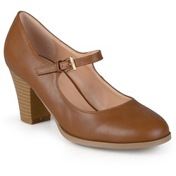Women's Journee Collection Jamie Classic Mary Jane Pumps - Camel 7.5