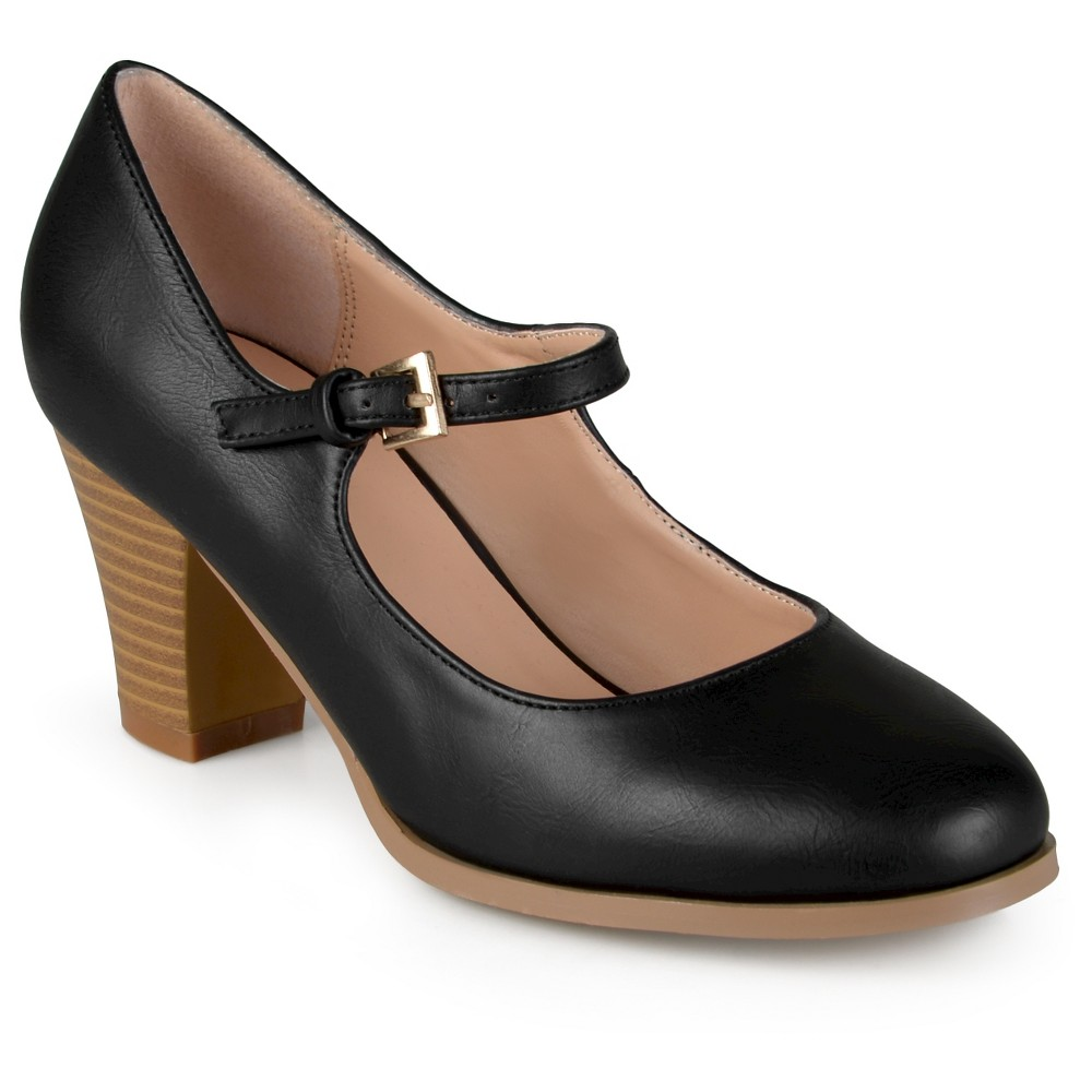 Womens Journee Collection Jamie Classic Mary Jane Pumps - Black 8