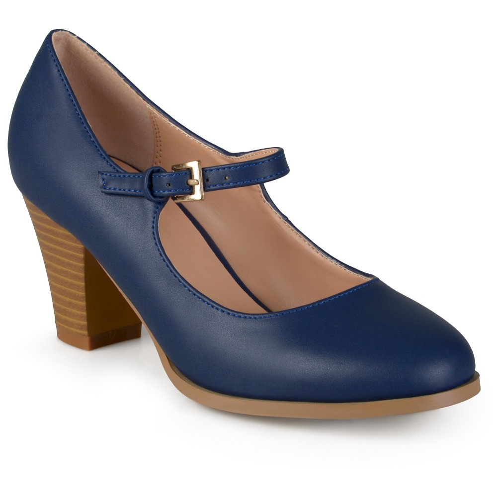 Womens Journee Collection Jamie Classic Mary Jane Pumps - Navy (Blue) 8.5