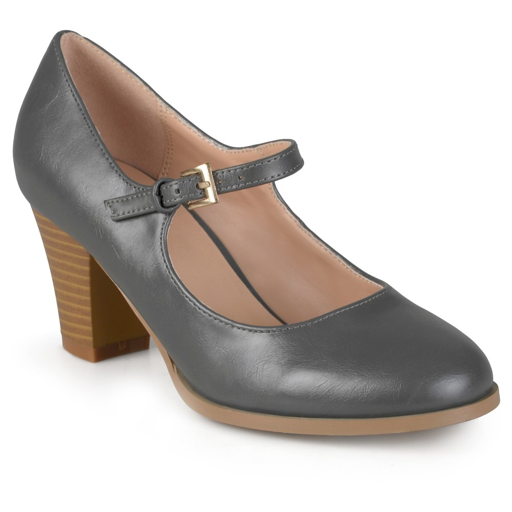 Womens Journee Collection Jamie Classic Mary Jane Pumps - Gray 7.5