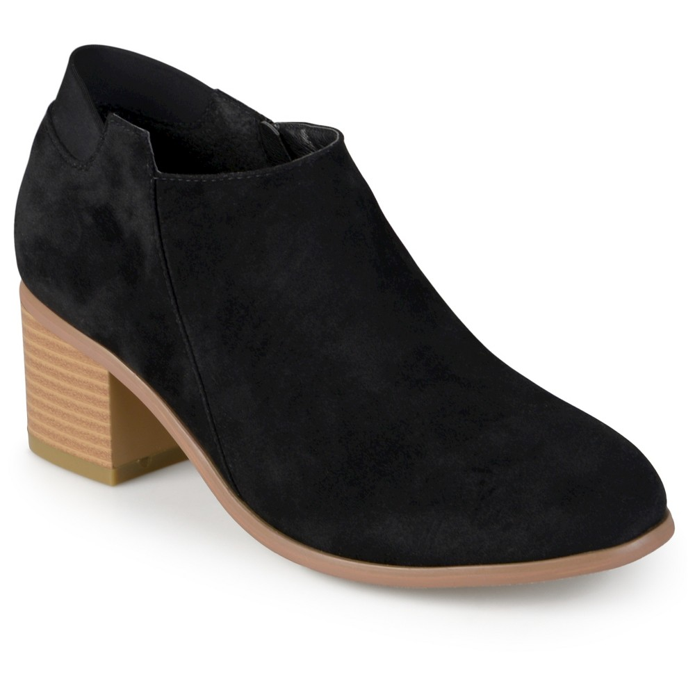 Womens Journee Collection Miley Faux Suede Booties - Black 7.5