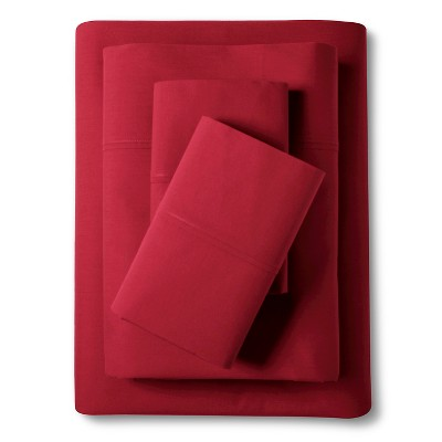Poppy & Fritz Percale Sheet Set - Red (Queen)