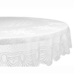 Lace Floral Polyester Tablecloth - Design Imports