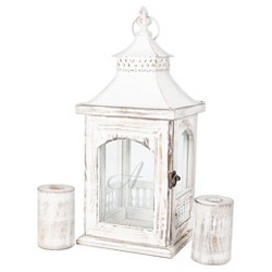 Monogram Rustic Unity Lantern with 2 Candle Holders - Cathy's Concepts®