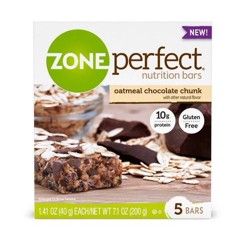 Zone Perfect Nutrition Bar Oatmeal Chocolate Chunk - 1.76oz(5pk) - image 1 of 4