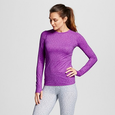 Warm Essentials® by Cuddl Dudds® Women's Thermal Active Long Sleeve Crew Top Orchid M