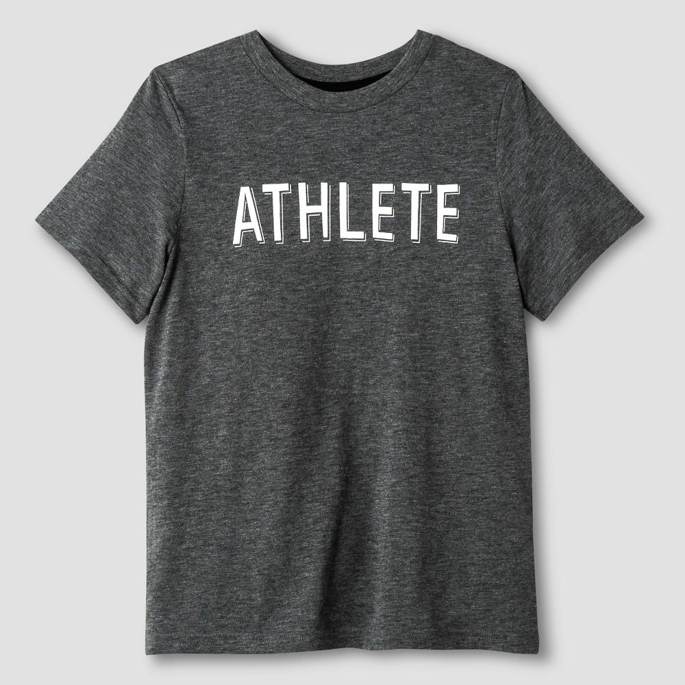 Kids Athlete T-Shirt - Cat & Jack Heather Gray XL, Kids Unisex