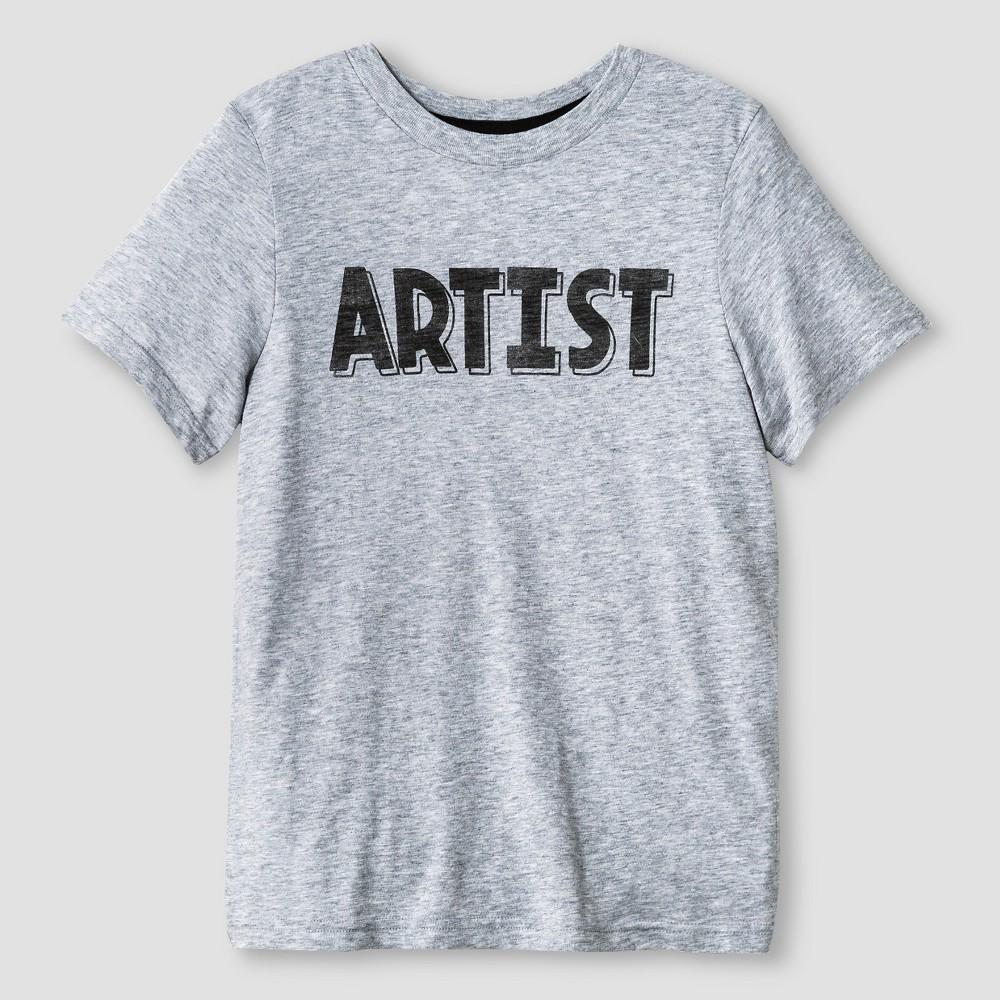 Kids Artist Graphic T-Shirt - Cat & Jack Heather Gray S, Kids Unisex