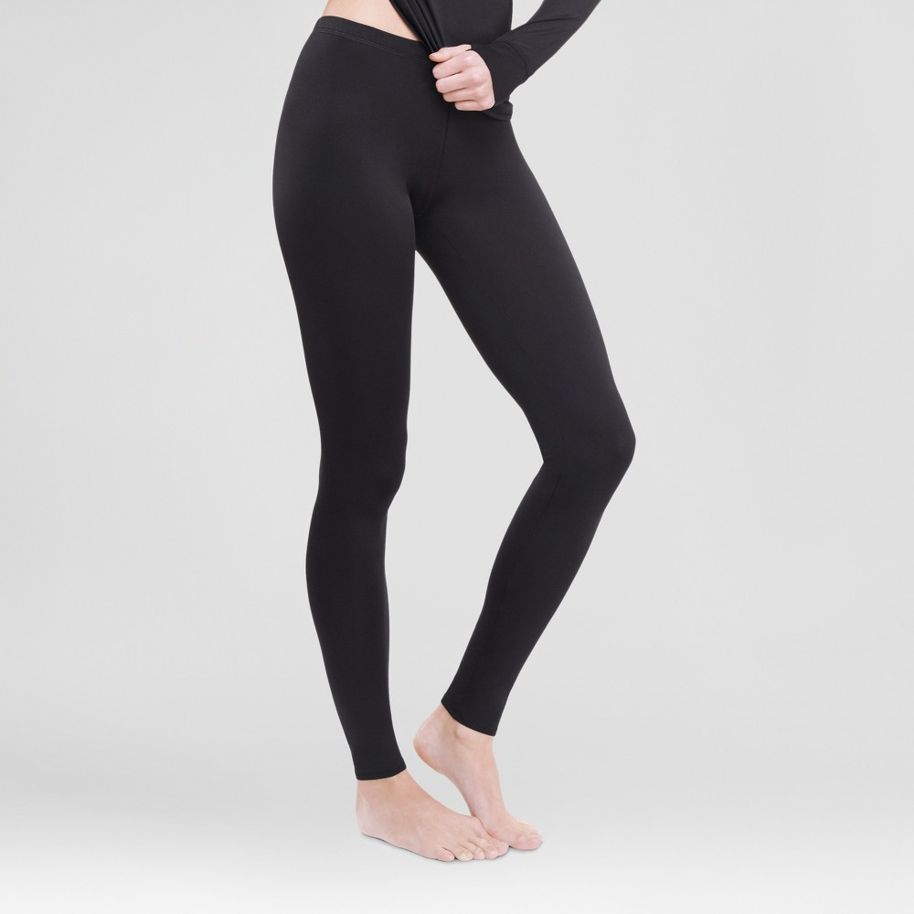 Warm Essentials by Cuddl Dudds Womens Thermal Active Leggings Black L